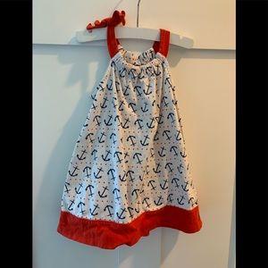 Nautical cotton dress